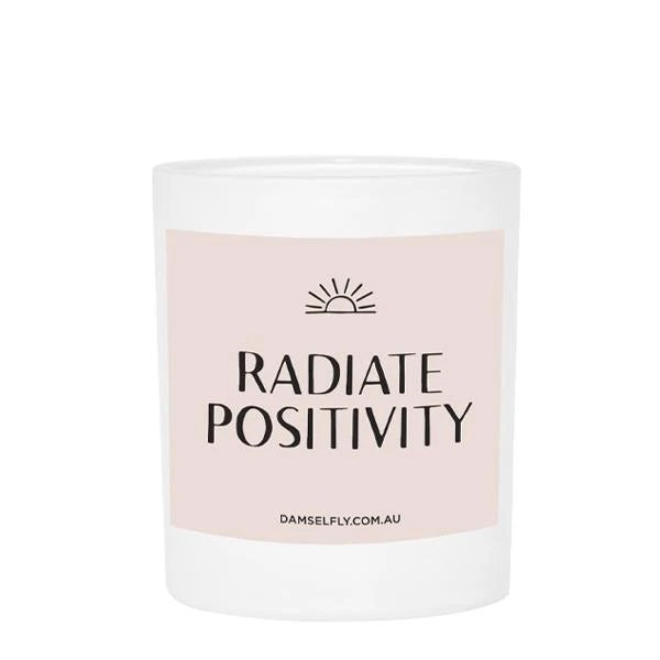 Radiate Positivity - Large Candle