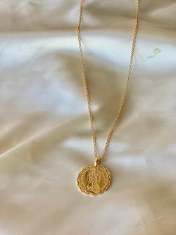 Queens coin necklace