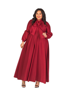 ELLISON MAXI DRESS - BURGUNDY