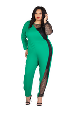 KELLY GREEN JUMPSUIT