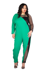 KELLY GREEN JUMPSUIT - KELLY GREEN