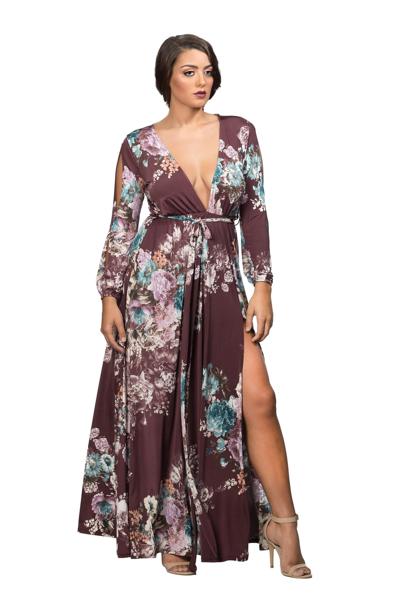 ROSE MULTICOLOR MAXI DRESS