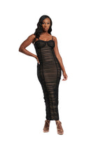 LISI BLACK MESH DRESS