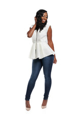 ZURI PEPLUM TOP