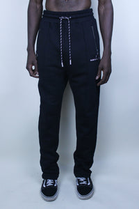 Logo Embroidered - Cotton Trouser / Black