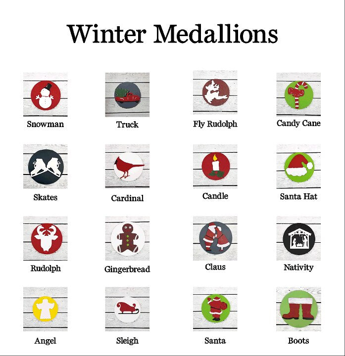 Winter Home Medallions