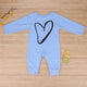 Baby Boys Girls Love Heart Printed Romper