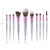 10PCS Rubber Makeup Brushes Foundation Cosmetic