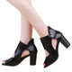 Womens Fish Mouth High Heel Zipper Shoes