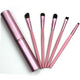 5Pcs Professional Lip Brush Cosmetic Tool Kits +Round Tube