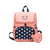 Girls Boys Kids Cartoon Animal Dots Print Backpack Bag