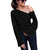 Women's Irregular Knitting Long Flare Sleeve Sweater