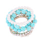 Candy Colored Roses Pearl Multilayer Bracelet For Women