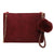 Solid Color Cross body Clutch Shoulder Bag
