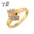 Zircon Wedding Rings For Women Jewelry Gold Engagement