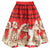 Fashion Women Christmas Kitty Print Elegant Skirt