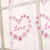 Romantic pattern Love Window Curtains Sheer Voile