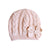Winter Warm Knitted Crochet Flower Baby pink Hat