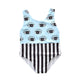 Eyes Print Striped Swim wear kids set