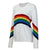 Women Rainbow Bridge Knit Sweater