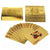 24K Gold Playing Cards Poker Game Deck Gags Practical Jokes