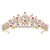 Tiara Pearl Headband Jewelry Bridal Crown Women Wedding