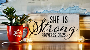 Proverbs 31:25 Wall Sign