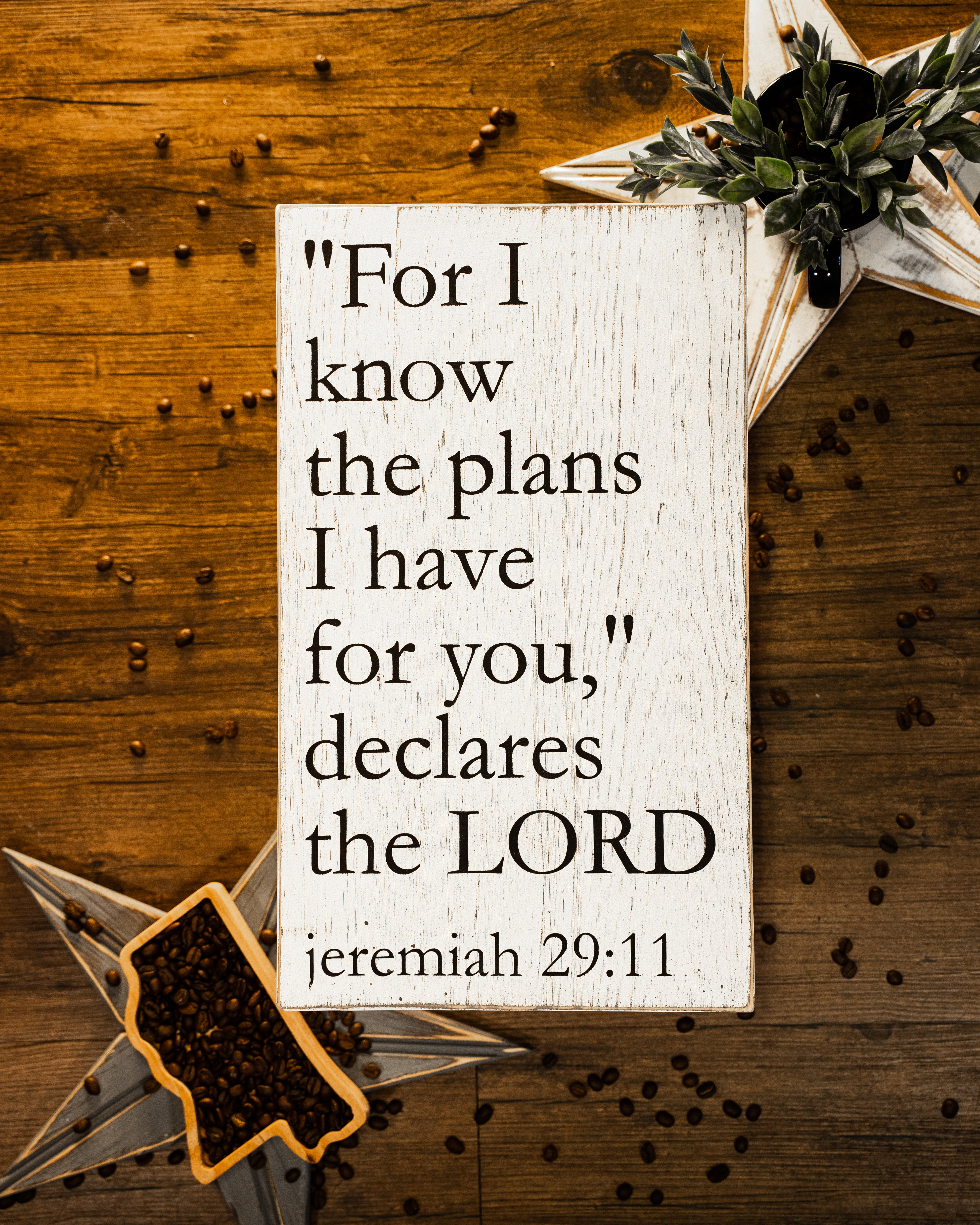 Jeremiah 29:11 Wall Sign
