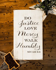 Micah 6:8 Wall Sign