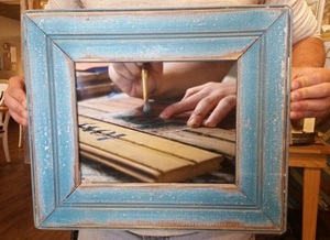 Bead Board Picture Frame
