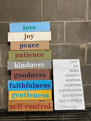 Galatians 5:22-23 Wall Sign | Modern