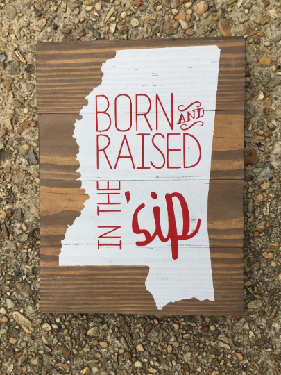 Born and Raised Wall Sign