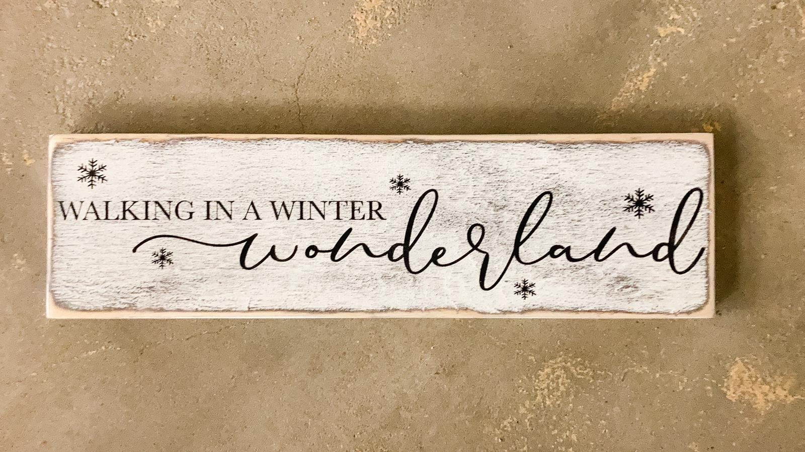 Winter Wonderland Wall Sign