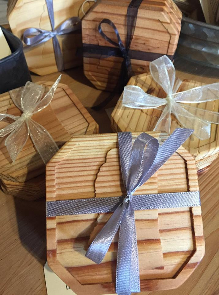 Repurposed Wood Coasters (4 set)