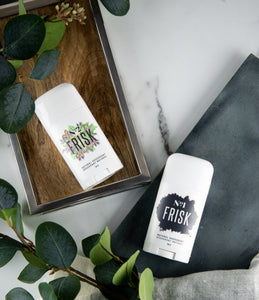Frisk No.2 & No.2 Natural Vegan Deodorant - Gender Neutral - All Natural - 100% Effective  - Vegan - Made in Canada - Cruelty Free - Recyclable   NO ALUMINUM  - NO PARABENS - NO PROPYLENE GLYCOL - NO BAKING SODA - NO FRAGRANCE