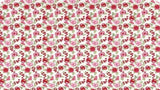 Cotton Fabric In Metallic Red and Pink Fruit Blooms - Christina's Fabrics Online Superstore