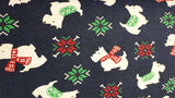 Flannel Fabric Christmas Scottish Terriers - Christina's Fabrics Online Superstore