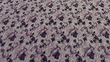 Polyester Fashion Crinkle Fabric In Violet Floral - Christina's Fabrics Online Superstore