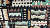 Cotton Fabric in An Aztec Print - Christina's Fabrics Online Superstore