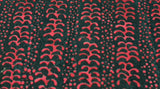 Batik Fabric In Black And Red Print - Christina's Fabrics Online Superstore