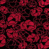 Batik Fabric Remember Poppies Red, Black by Shania Sunga - Christina's Fabrics Online Superstore