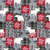Christmas Flannel Fabric In Grey - Forest Animals - Christina's Fabrics Online Superstore
