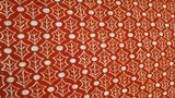 Cotton Christmas Fabric In Red Leaf Pattern - Christina's Fabrics Online Superstore