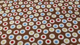Cotton Fabric In Brown Dots - Christina's Fabrics - Online Superstore
