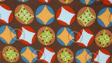 Cotton Fabric in Brown Pattern - Christina's Fabrics - Online Superstore