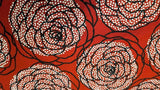 Cotton Fabrics In Red with Large Flower Print- Christina's Fabrics - Online Superstore