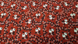 Cotton Fabric in A Red Tiny Floral Print - Christina's Fabrics Online Superstore