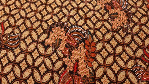 Cotton Fabric In Brown Indonesian Print - Christina's Fabrics Online Superstore
