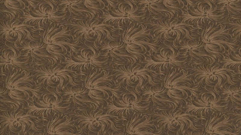 Cotton Fabric In Brown Rosebud Print - Christina's Fabrics Online Superstore