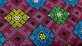 Cotton Fabric in Multicolor Indonesian Print - Christina's Fabrics Online Superstore